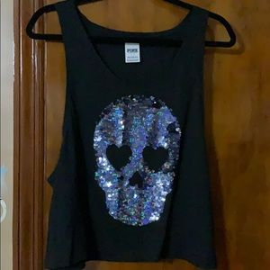 Sequin Muscle Tank (NWOT)
